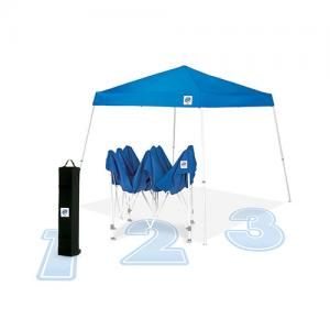 EZ Up, Vista Recreational Instant Shelter by International E-Z UP, 10 by 10-Feet, Blue — EZVS9104BL